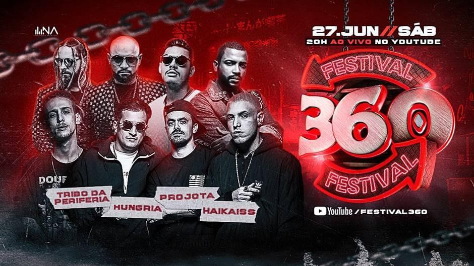 live do Festival 360 - Tribo da Periferia, Projota, Haikaiss e Hungria