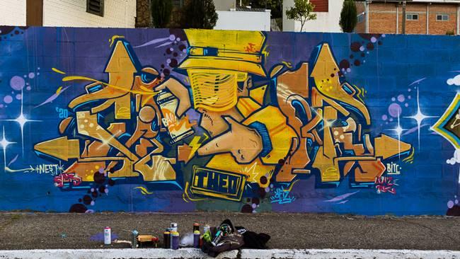 Graffiti do grafiteiro Reis