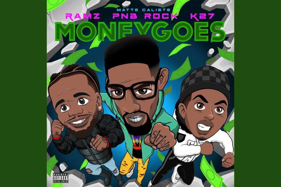 """Hoje, chega às principais plataformas digitais """"Money Goes"""", a celebrada comemoração dos quatro artistas certificados com multiplatina: os rappers Ramz (Reino Unido), PnB Rock (EUA) e K27 (Suécia)."""